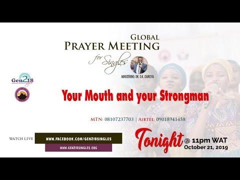 ONLINE GLOBAL PRAYER MEETING for Singles FEBRUARY 2019